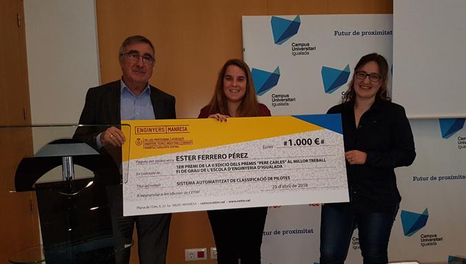 Ester Ferrero Gana El 2º Premio Pere Carles Al Mejor Trabajo De Fin De Grado En Ingeniería En Organización Industrial De Igualada